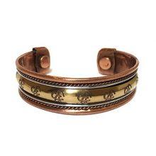 دستبند درمانی مسی مگنت دار طرح اُم (OM)