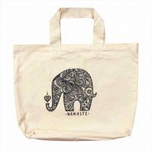 ساک دستی پارچه ای الیاف طبیعی طرح : فیل