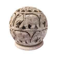 جا شمعی سنگی دستساز هندی طرح : فیل