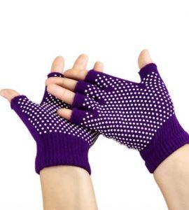 دستکش ضد لغزش یوگا و پیلاتس : بنفش