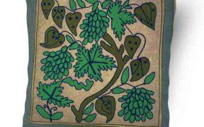کاور کوسن دست دوز سوزنی هندی طرح درخت انگور : تمام دوخت