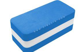 آجر دو رنگ فومی یوگا : آبی سفید