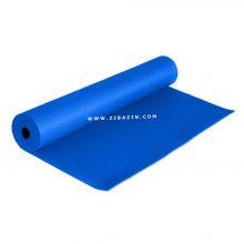 مت یوگا و پیلاتس (PVC) یک لایه ۸ میل و کاور رایگان : آبی