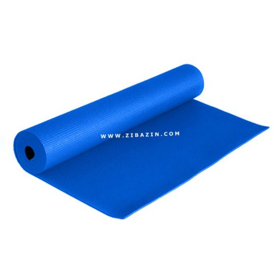مت یوگا و پیلاتس (PVC) 6 میل : آبی + کاور رایگان