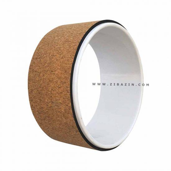 يوگا ويل (چرخ يوگا) طرح : چوب پنبه ای