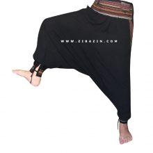 شلوار هیپی تبتی فاق بلند : مشکی