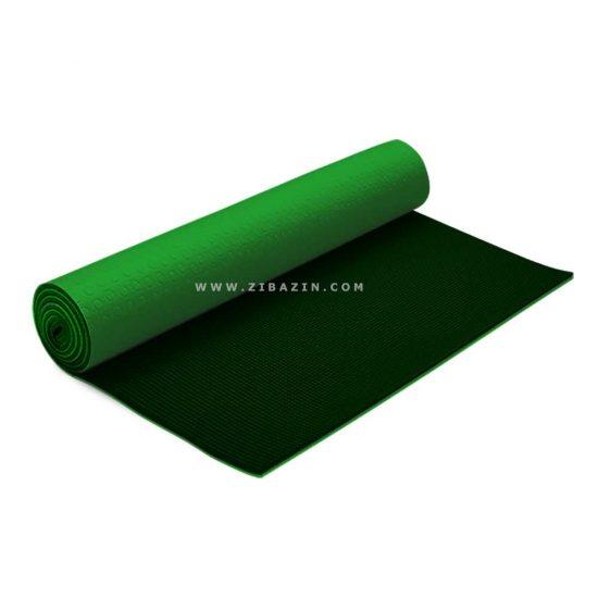 مت يوگا و پيلاتس (PVC) دولايه استپ دار 6 ميل : سبز