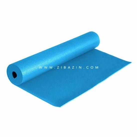مت یوگا و پیلاتس (PVC) 6 میل : آبی آسمانی + کاور رایگان