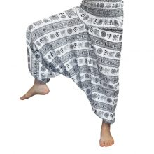 شلوار هیپی یوگا هندی فاق بلند طرح OM کد ۱