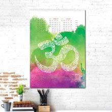 سالنامه دیواری سال ۱۳۹۸ طرح یوگا