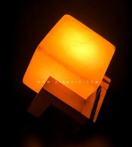 چراغ سنگ نمک بزرگ طرح : مکعب