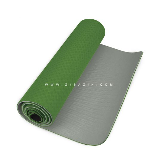 مت یوگا و پیلاتس (TPE) دو لایه ۸ میل : سبز یشمی