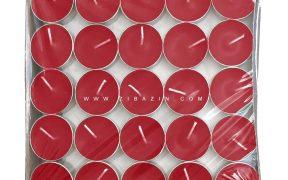 شمع وارمر ساده 100 تایی 4 ساعته : قرمز