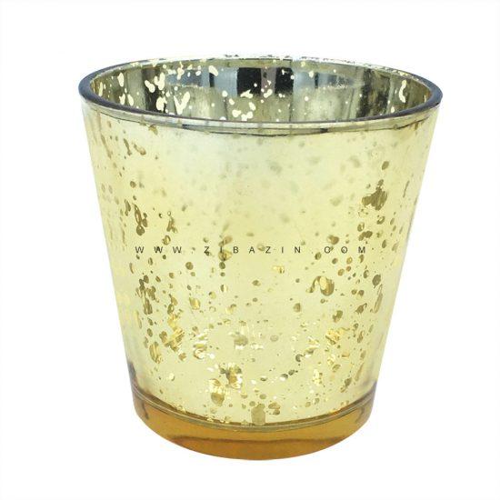 جاشمعی شیشه ای کوچک رنگی : طلایی