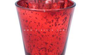جاشمعی شیشه ای کوچک رنگی : قرمز