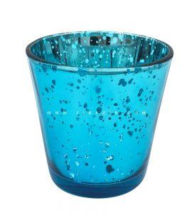 جاشمعی شیشه ای کوچک رنگی : آبی