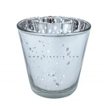 جاشمعی شیشه ای کوچک رنگی : نقره ای