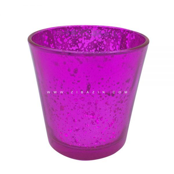 جاشمعی شیشه ای کوچک رنگی : سرخآبی