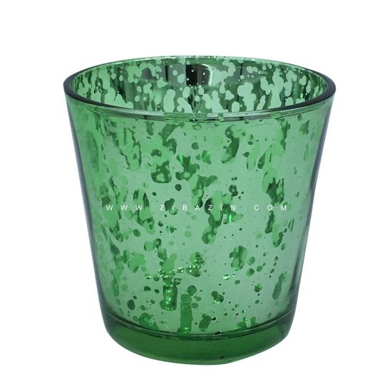 جاشمعی شیشه ای کوچک رنگی : سبز