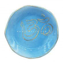بشقاب سرامیکی دستساز طرح اوم OM (لعاب طلا) : کد۳