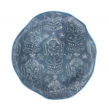 بشقاب سرامیکی دستساز طرح فیل : کد۵