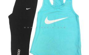 ست دو تیکه تاپ شلوار برمودا زنانه ورزشی : کد۴