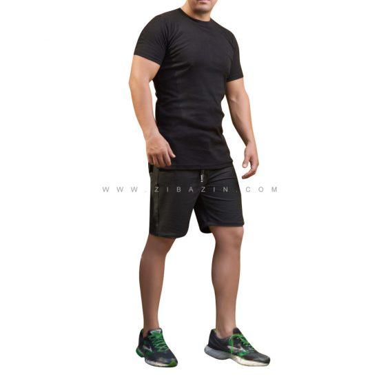 ست دو تیکه تیشرت شلوارک مردانه ورزشی