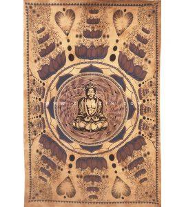 دیوار آویز (بکدراپ) و روتختی تکنفره طرح بودا : کد ۱۰۹