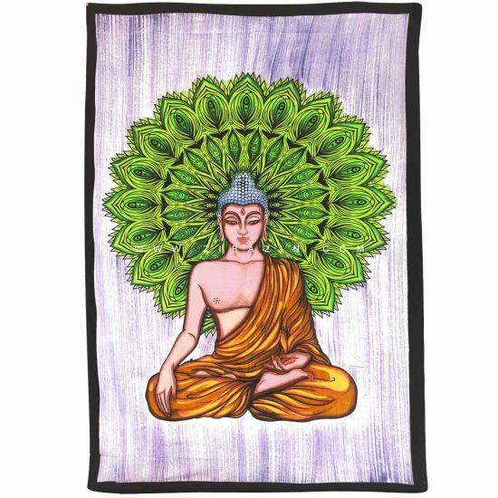 دیوار آویز (بکدراپ) و روتختی تکنفره طرح بودا : کد ۱۱۰