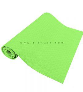 مت یوگا و پیلاتس (TPE) فوق سبک یک لایه ۸ میل : سبز + کاور رایگان