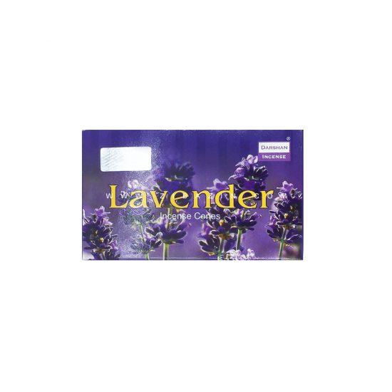 عود دستساز مخروطی اسطوخودوس (Lavender) برند دارشان : ۵۰ گرمی