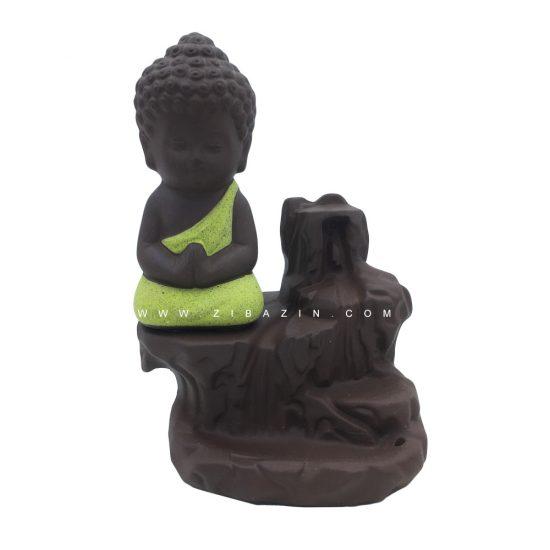 جا عودی سرامیکی آبشاری طرح بودا : زرد