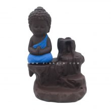 جا عودی سرامیکی آبشاری طرح بودا : آبی