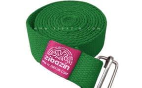 کمربند نخی مخصوص یوگا تک حلقه : سبز چمنی