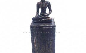 مجسمه و جاعودی چوبی طرح بودا