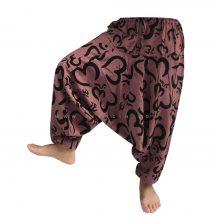 شلوار هیپی یوگا هندی فاق بلند طرح هزار OM بزرگ کد 7