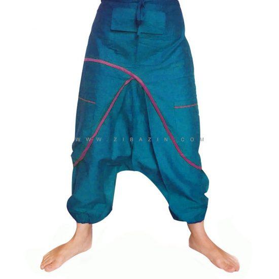 شلوار هیپی یوگا هندی فاق بلند طرح پاکتی کد ۱