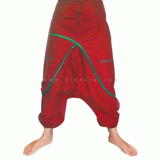 شلوار هیپی یوگا هندی فاق بلند طرح پاکتی کد 3