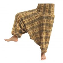شلوار هیپی یوگا هندی فاق بلند طرح OM کد 8