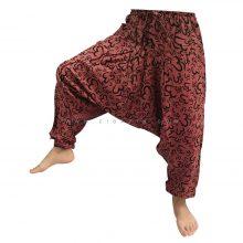 شلوار هیپی یوگا هندی فاق بلند طرح هزار OM کد 6