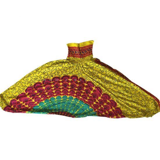 شلوار هیپی یوگا هندی فاق بلند طرح ماندالا کد 5