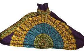 شلوار هیپی یوگا هندی فاق بلند طرح ماندالا کد 4