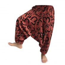 شلوار هیپی یوگا هندی فاق بلند طرح هزار OM بزرگ کد 3