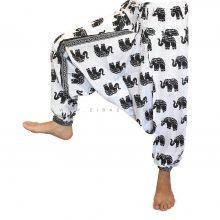 شلوار هیپی یوگا هندی فاق بلند طرح فیل کد 8