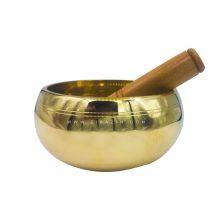 کاسه تبتی (مرتعش) هندی : طلایی (۱۴ سانت)