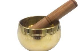 کاسه تبتی (مرتعش) هندی : طلایی (9 سانت)