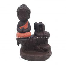 جا عودی سرامیکی آبشاری طرح بودا : گلبهی