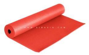 مت یوگا و پیلاتس (PVC) یک لایه ۶ میل : گلبهی + کاور رایگان