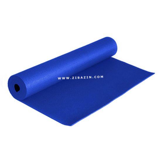 مت یوگا و پیلاتس (PVC) یک لایه ۶ میل : آبی + کاور رایگان