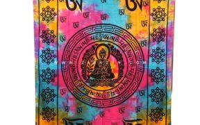 دیوار آویز (بکدراپ) و روتختی تکنفره طرح بودا : کد 122